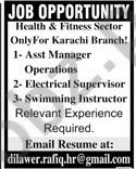 Assistant Manager Operations & Electrical Supervisor Jobs